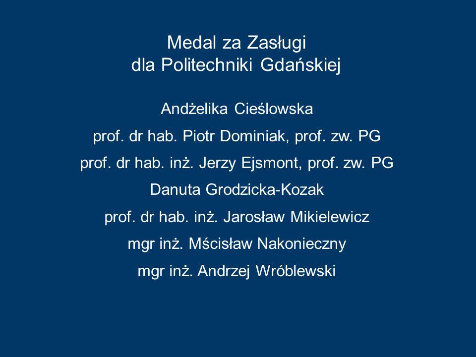 Medal za Zasługi dla Politechniki Gdańskiej