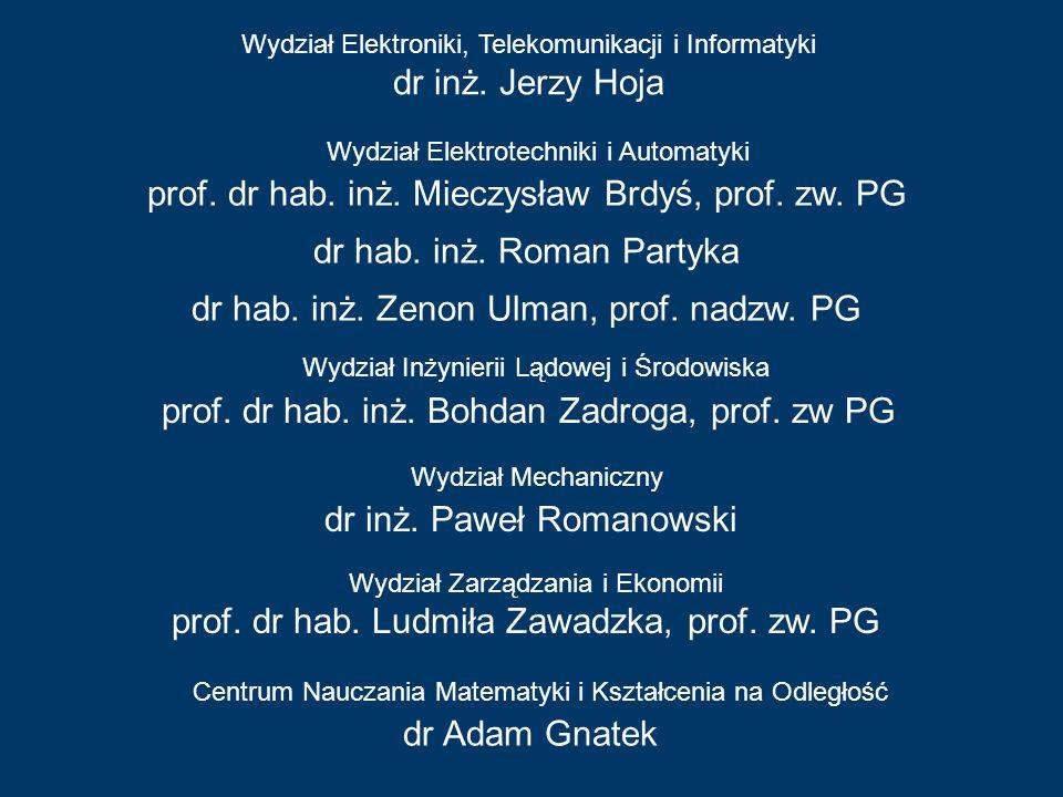 prof. dr hab. inż. Mieczysław Brdyś, prof. zw. PG