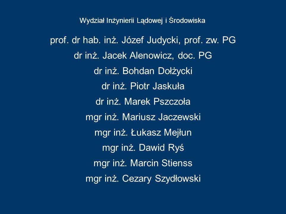 prof. dr hab. inż. Józef Judycki, prof. zw. PG