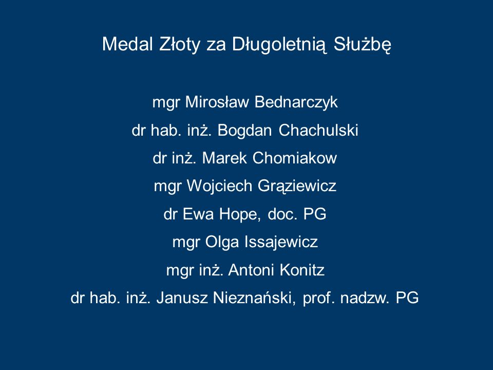 Medal Złoty za Długoletnią Służbę