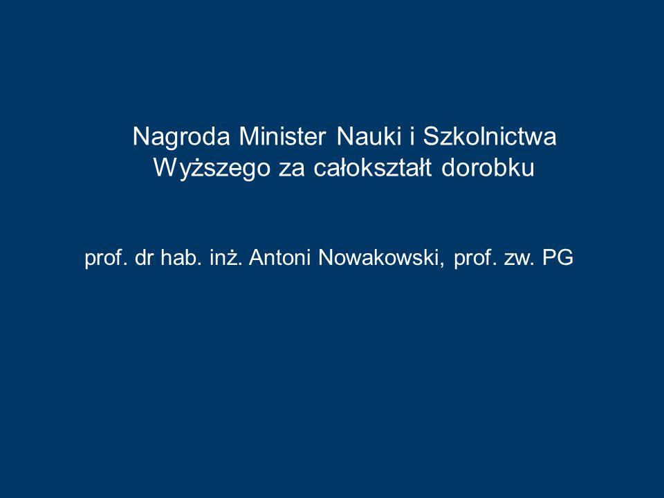Nagroda Minister Nauki i Szkolnictwa Wyższego za całokształt dorobku