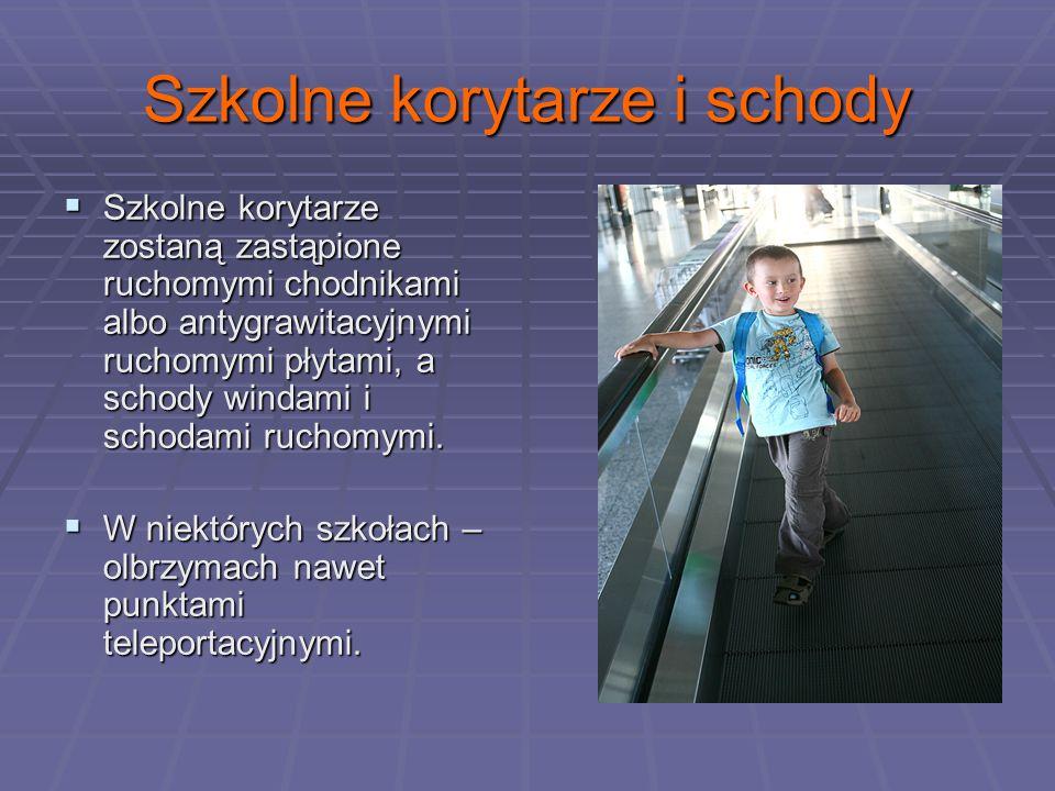 Szkolne korytarze i schody