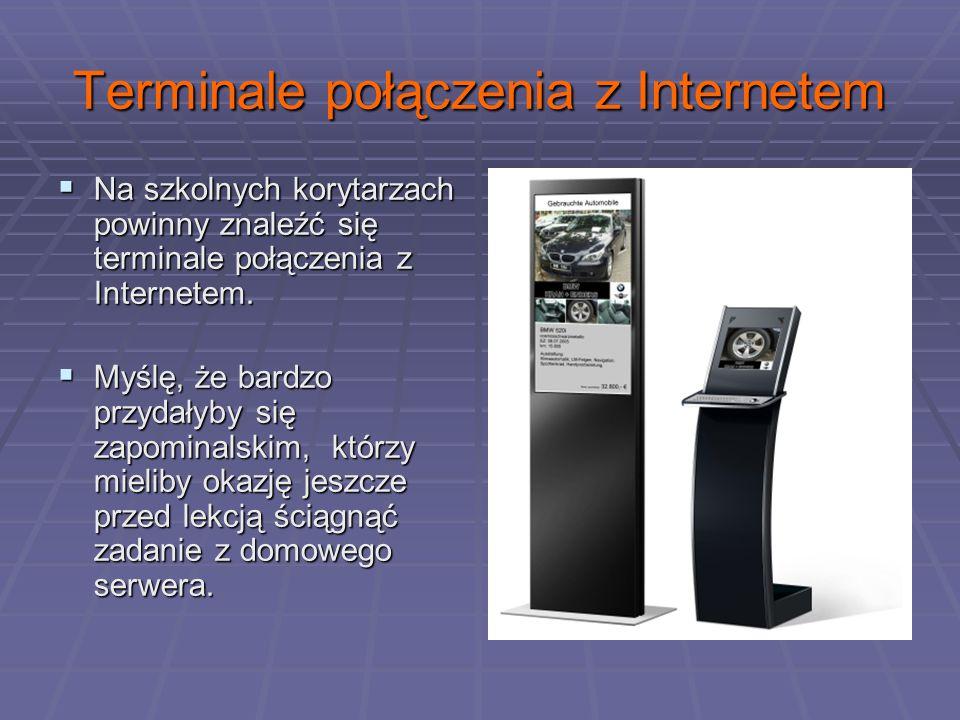 Terminale połączenia z Internetem