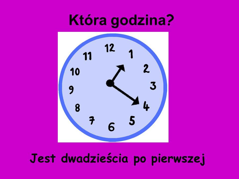 Która godzina Jest dwadzieścia po pierwszej