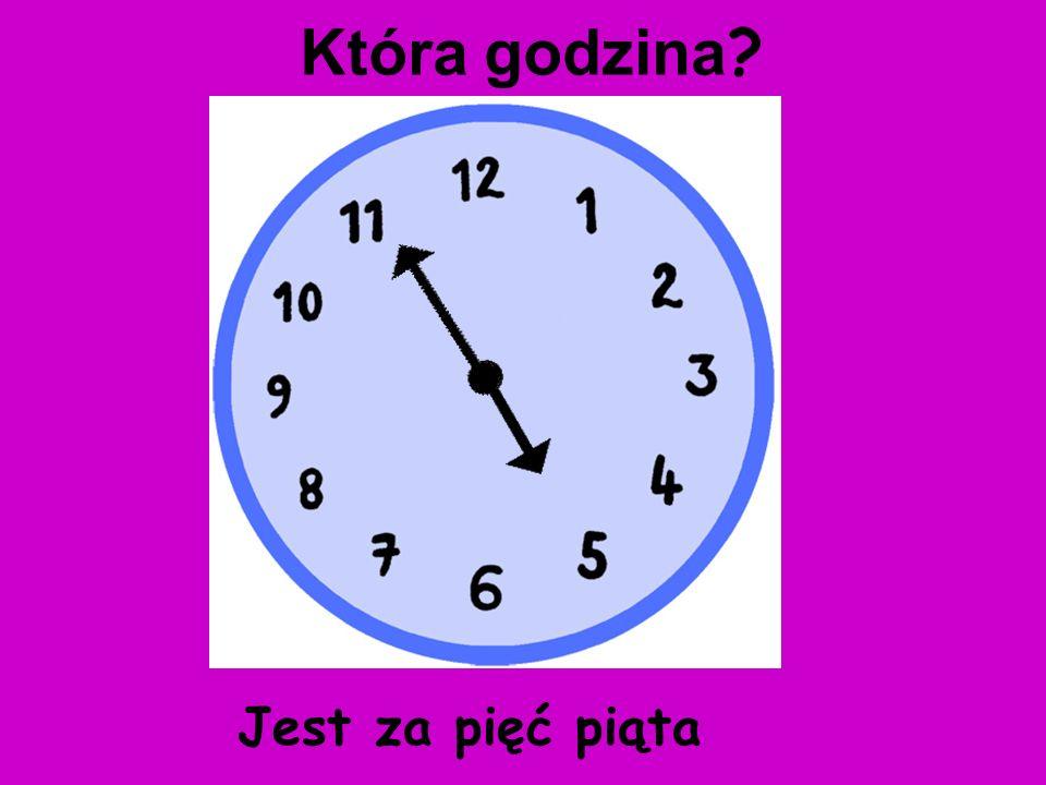 Która godzina Jest za pięć piąta
