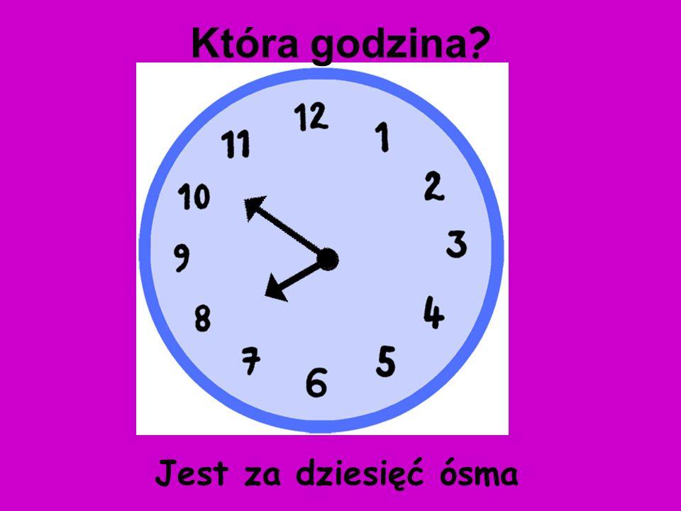 Która godzina Jest za dziesięć ósma