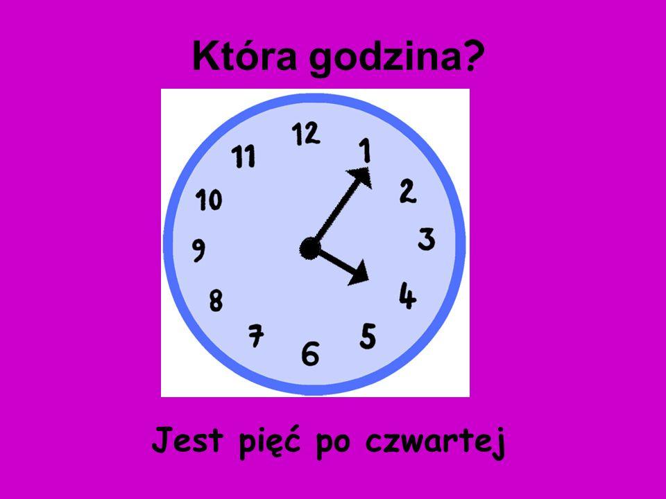 Która godzina Jest pięć po czwartej