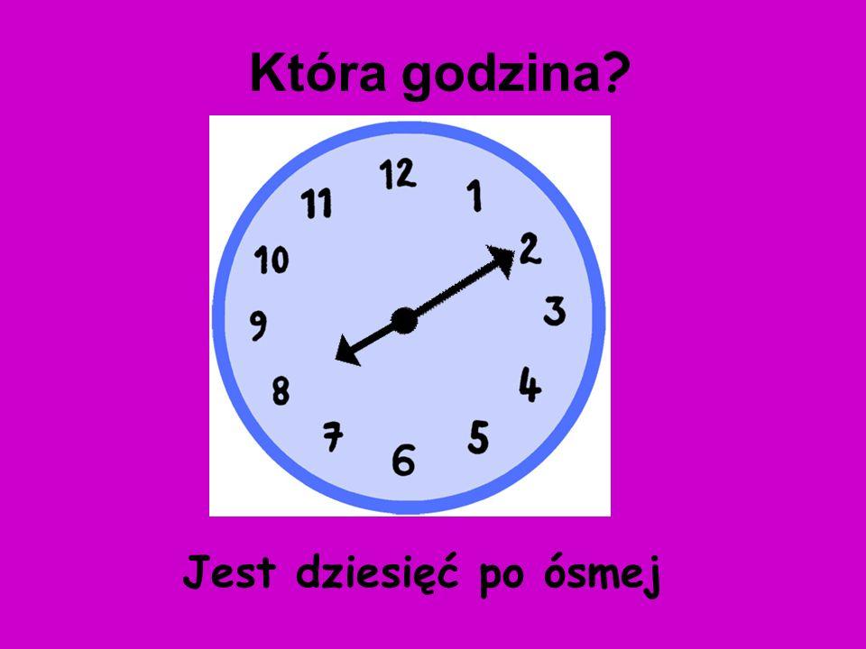 Która godzina Jest dziesięć po ósmej