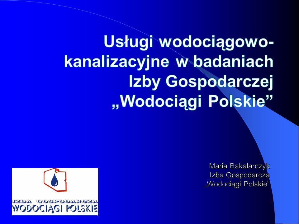"""Maria Bakalarczyk Izba Gospodarcza """"Wodociągi Polskie"""