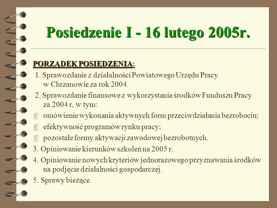 Posiedzenie I - 16 lutego 2005r.