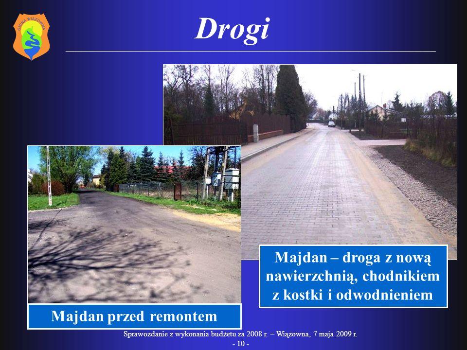 Majdan – droga z nową nawierzchnią, chodnikiem z kostki i odwodnieniem