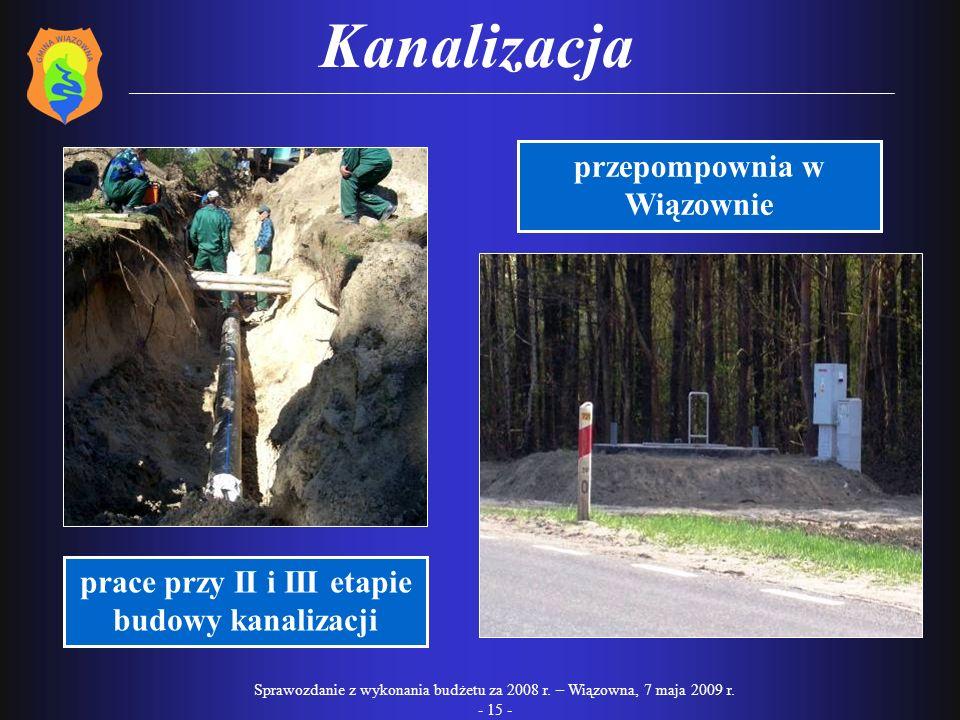 Kanalizacja przepompownia w Wiązownie