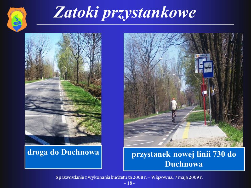 przystanek nowej linii 730 do Duchnowa