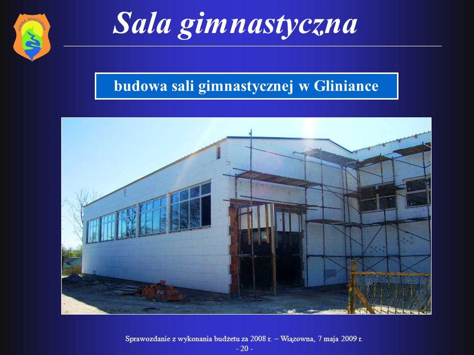budowa sali gimnastycznej w Gliniance