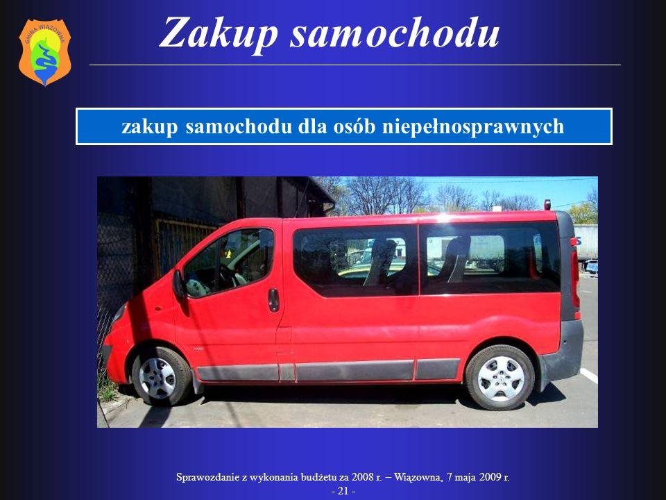 zakup samochodu dla osób niepełnosprawnych