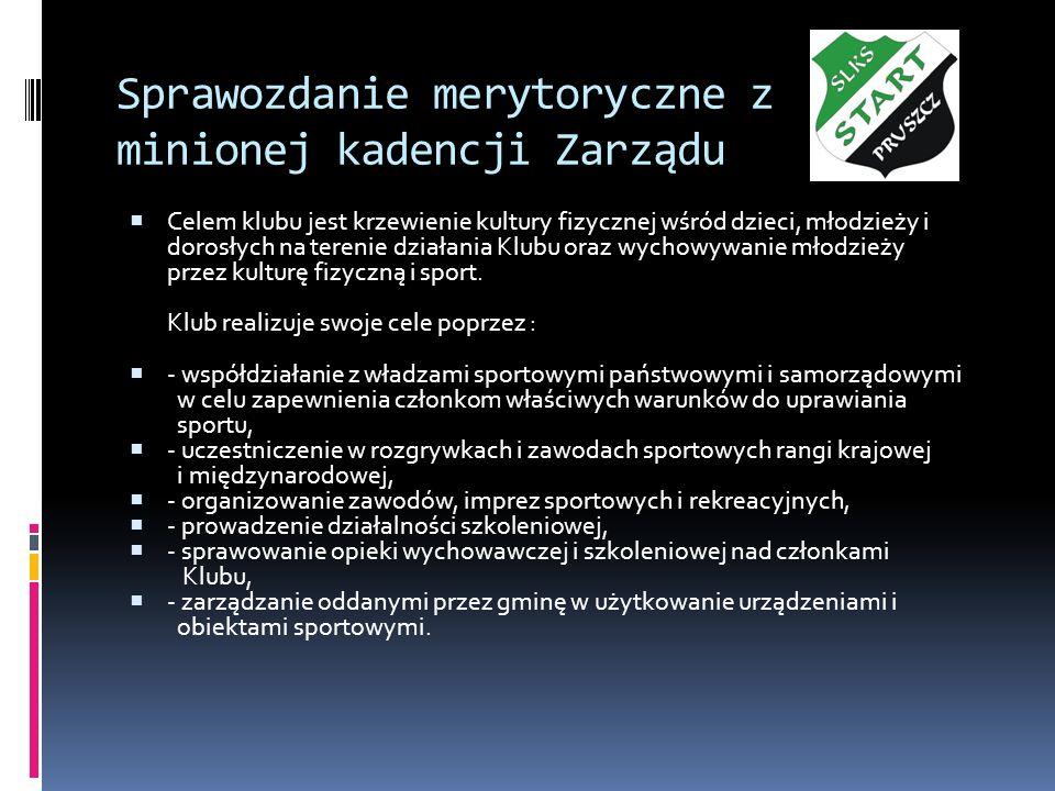 Sprawozdanie merytoryczne z minionej kadencji Zarządu