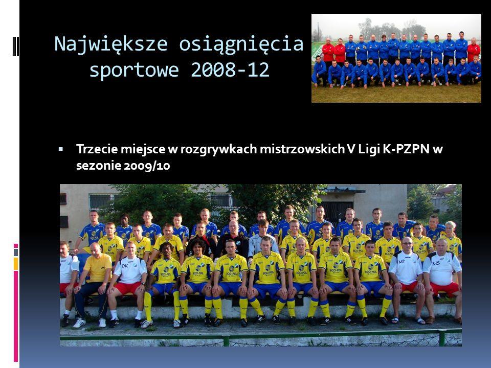Największe osiągnięcia sportowe 2008-12