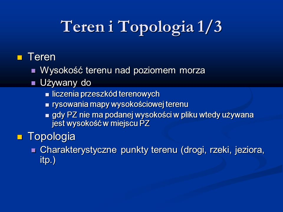 Teren i Topologia 1/3 Teren Topologia