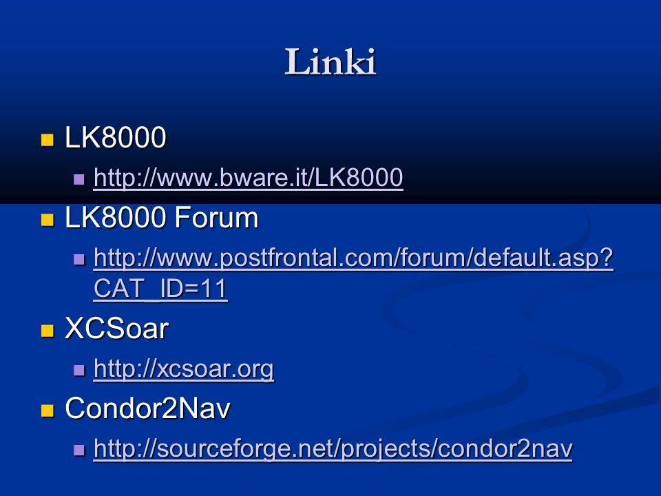 Linki LK8000 LK8000 Forum XCSoar Condor2Nav http://www.bware.it/LK8000