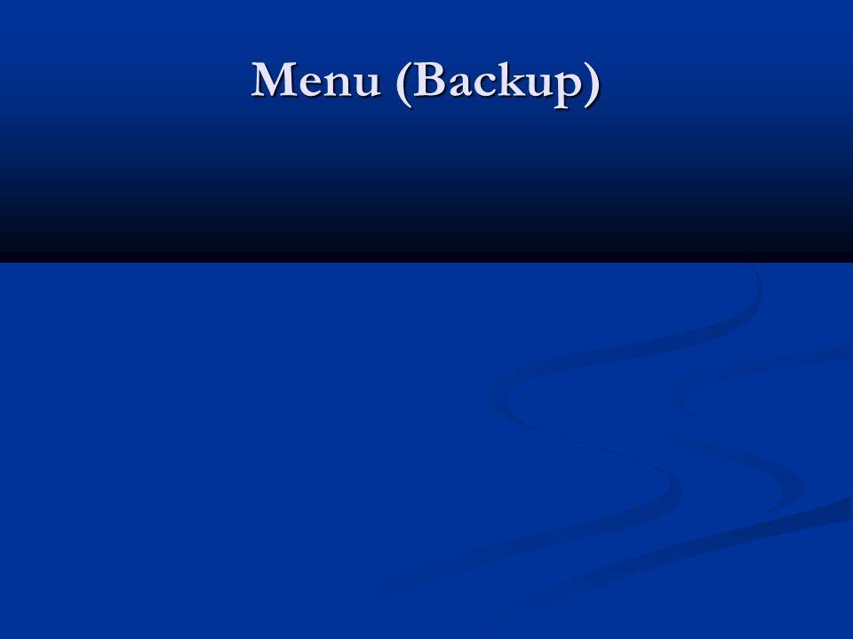 Menu (Backup)