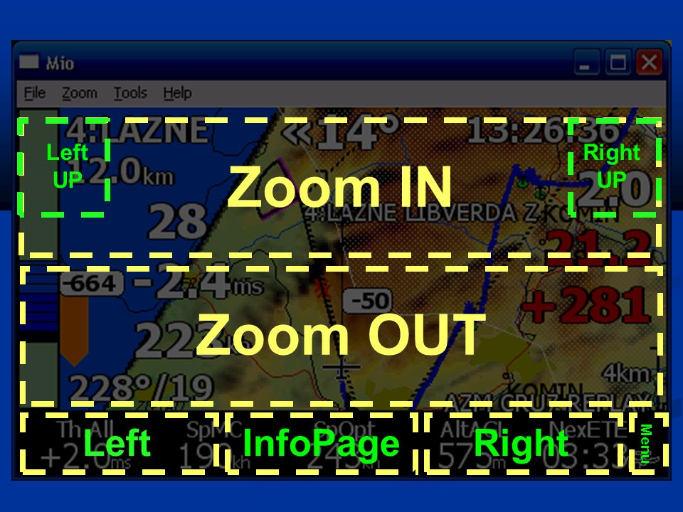 Zoom IN Zoom OUT Left InfoPage Right Left UP Right UP Menu