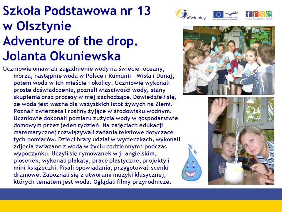 Szkoła Podstawowa nr 13 w Olsztynie Adventure of the drop