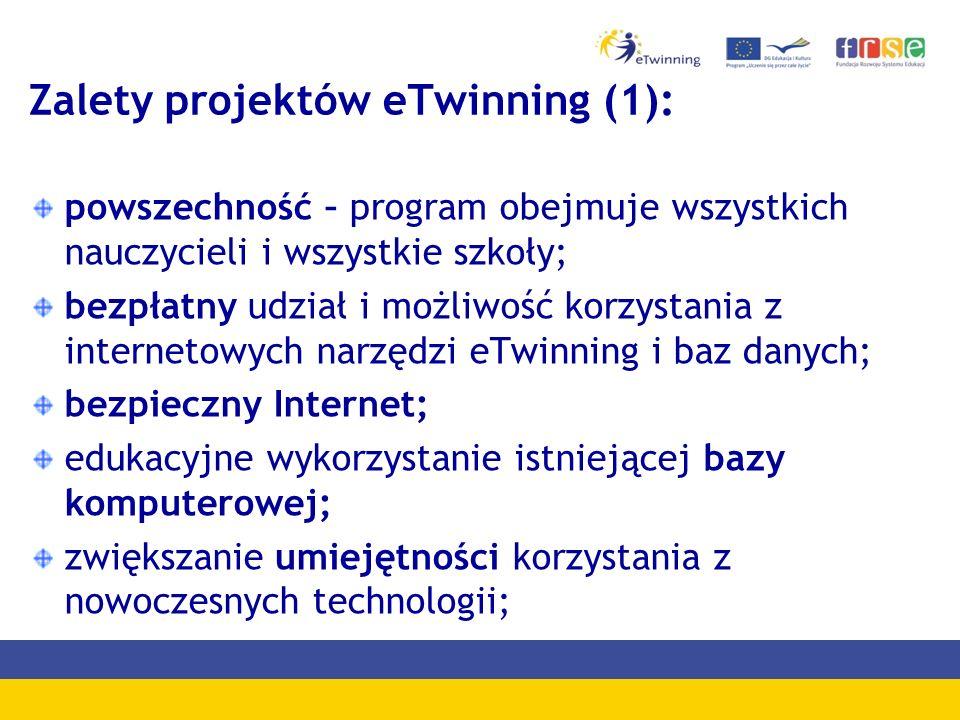 Zalety projektów eTwinning (1):