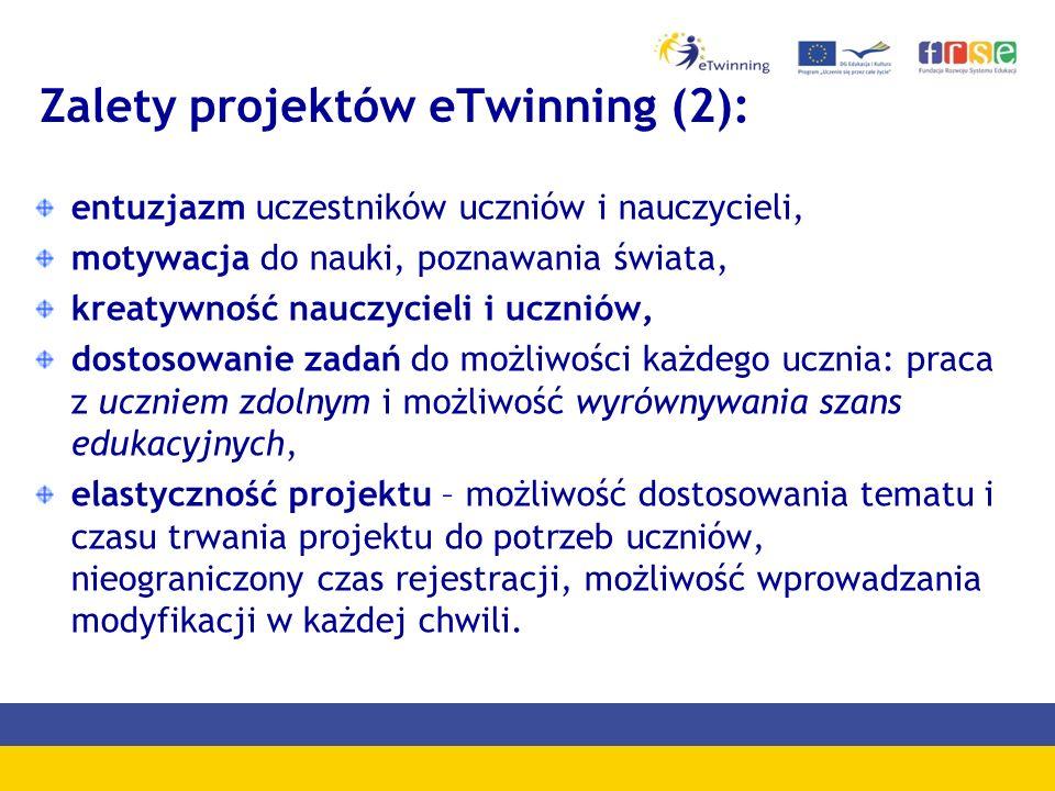 Zalety projektów eTwinning (2):