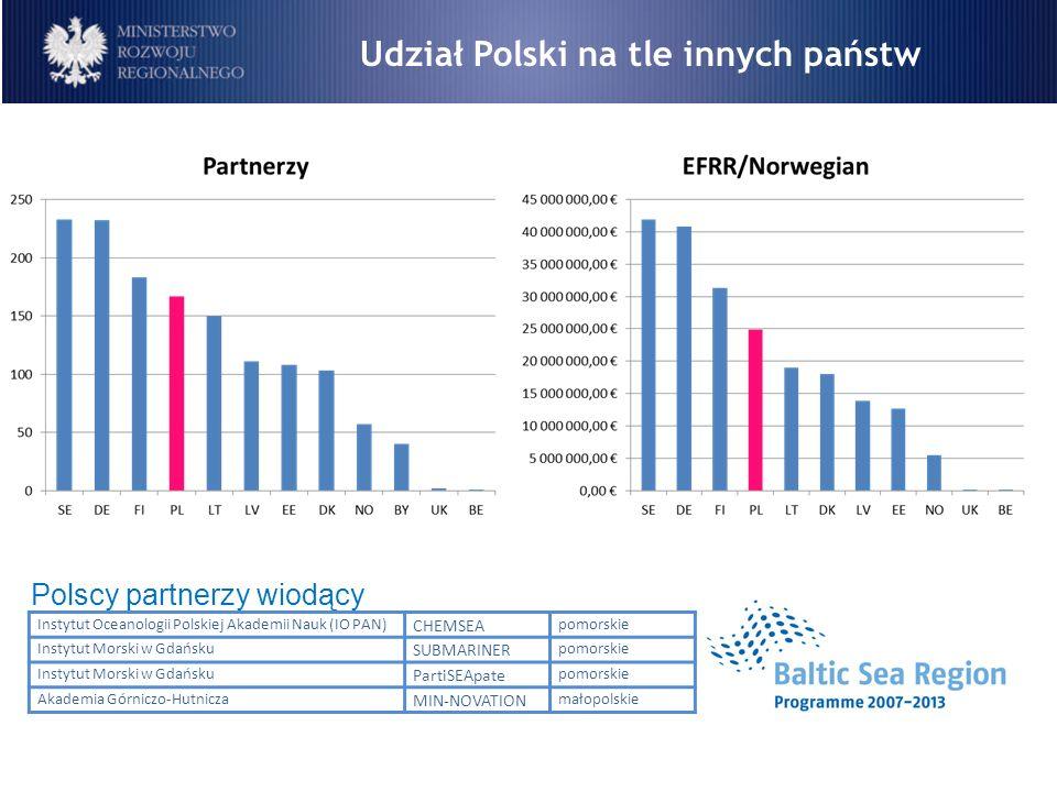 Udział Polski na tle innych państw