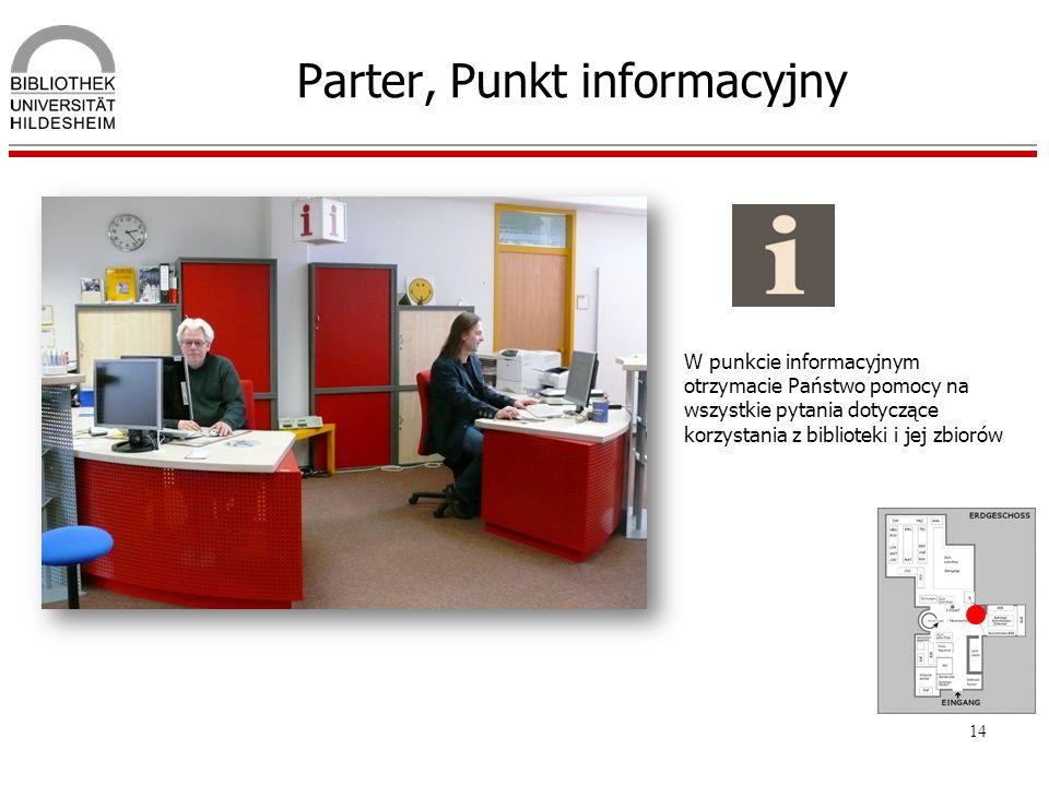 Parter, Punkt informacyjny