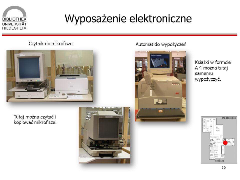 Wyposażenie elektroniczne