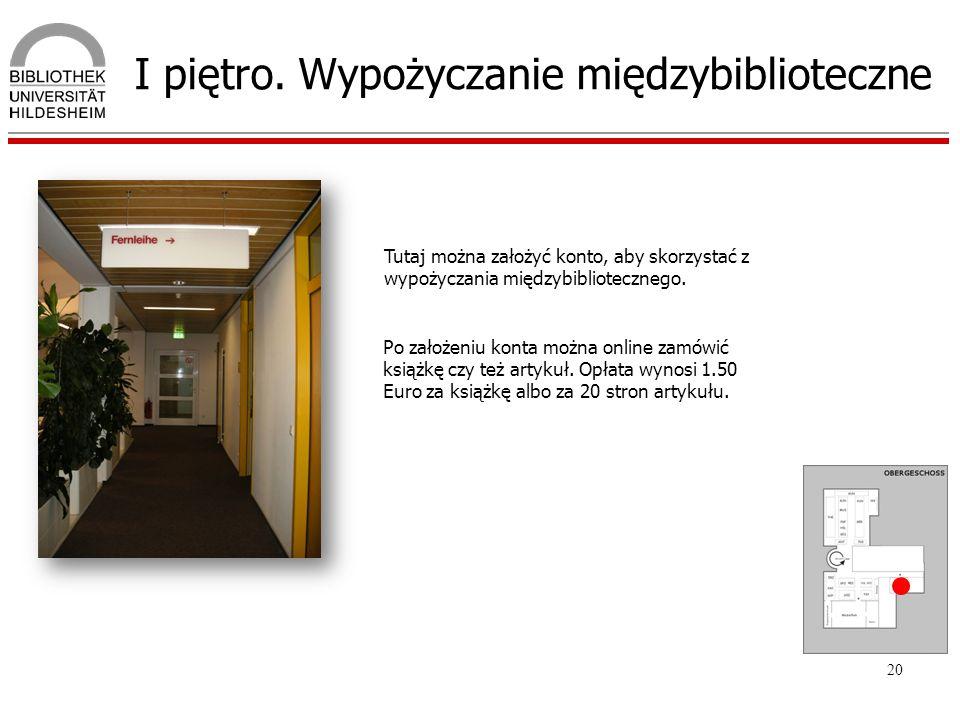 I piętro. Wypożyczanie międzybiblioteczne