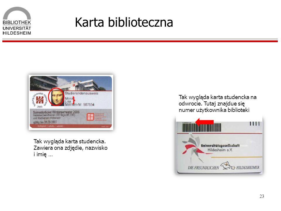 Karta biblioteczna Tak wygląda karta studencka na odwrocie. Tutaj znajdue się numer użytkownika biblioteki.