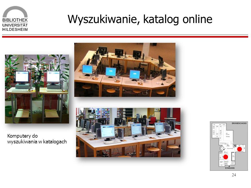 Wyszukiwanie, katalog online