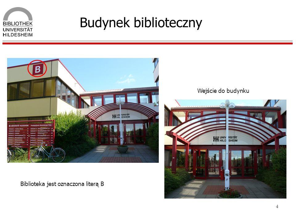 Budynek biblioteczny Wejście do budynku