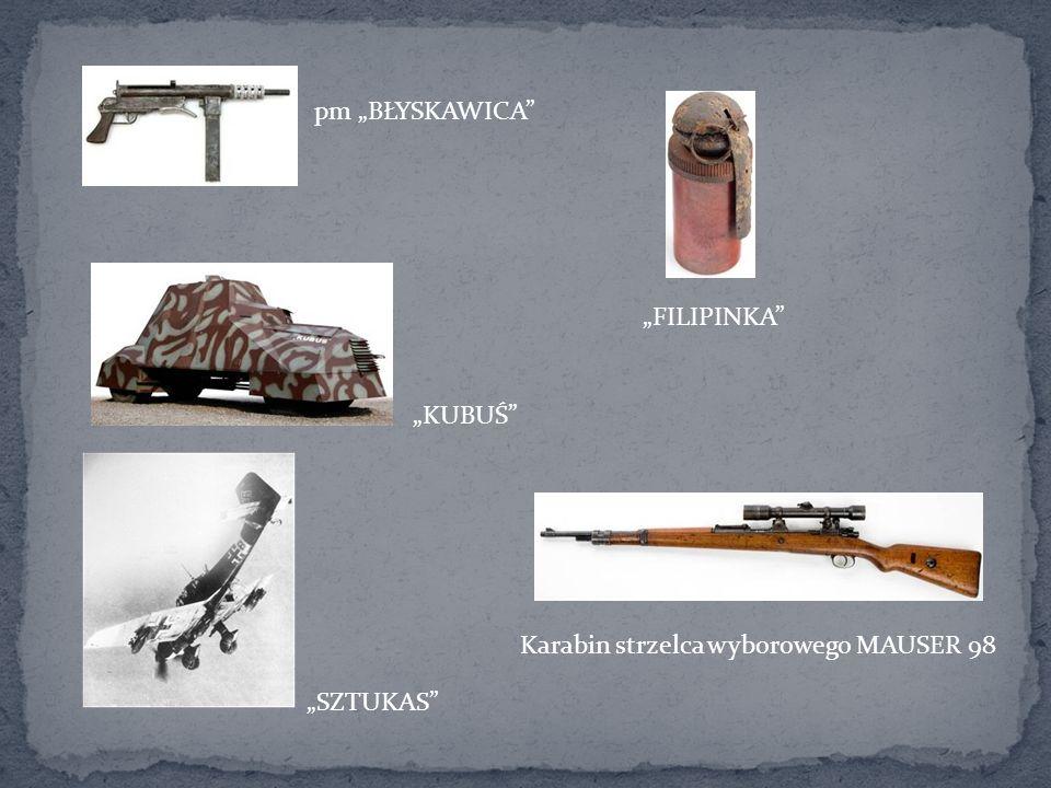 """pm """"BŁYSKAWICA """"FILIPINKA """"KUBUŚ Karabin strzelca wyborowego MAUSER 98 """"SZTUKAS"""
