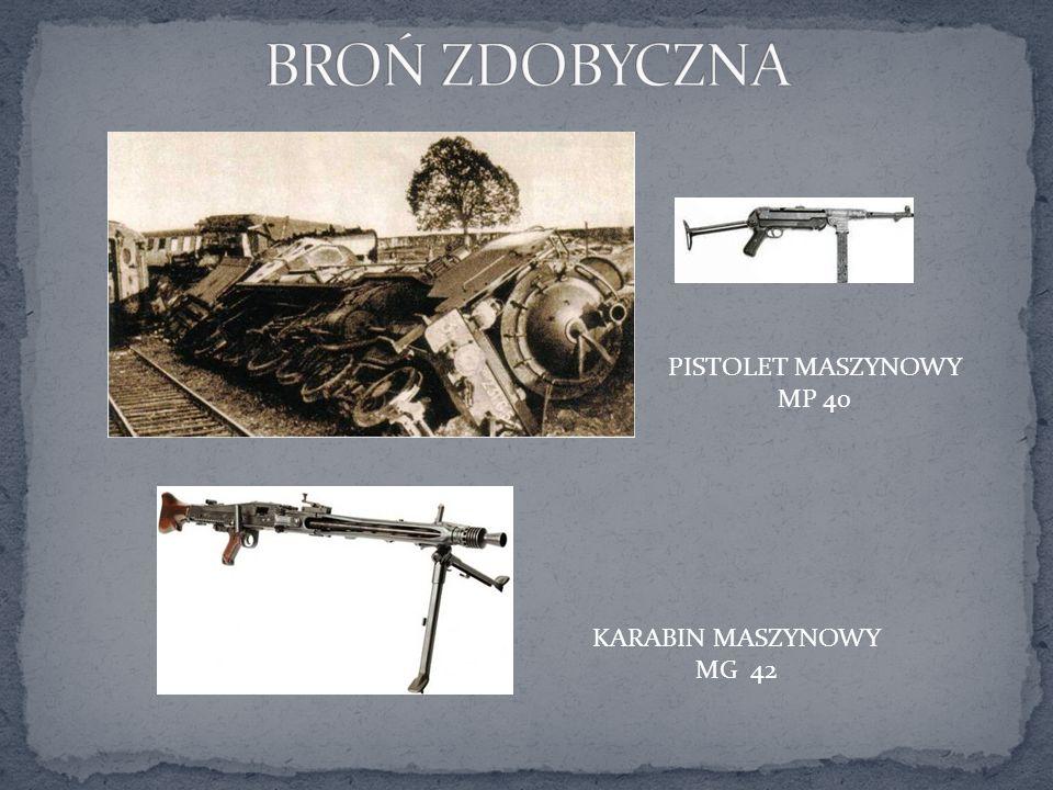 BROŃ ZDOBYCZNA PISTOLET MASZYNOWY MP 40 KARABIN MASZYNOWY MG 42