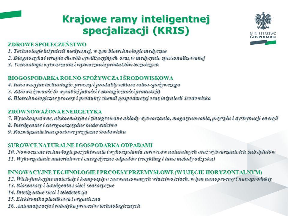 Krajowe ramy inteligentnej specjalizacji (KRIS)