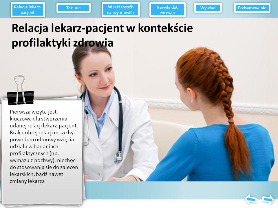 Relacja lekarz-pacjent w kontekście profilaktyki zdrowia