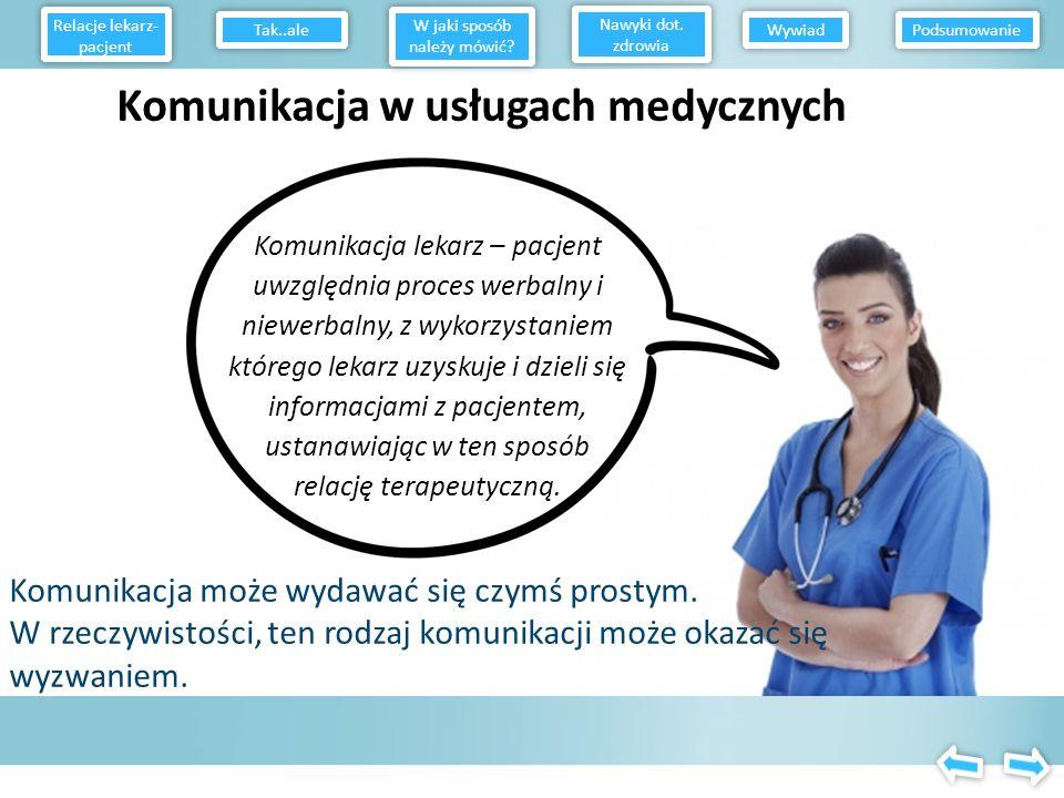 Komunikacja w usługach medycznych