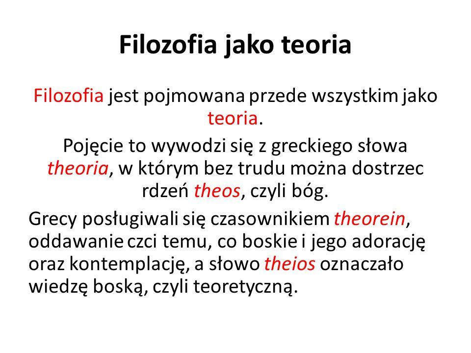 Filozofia jako teoria