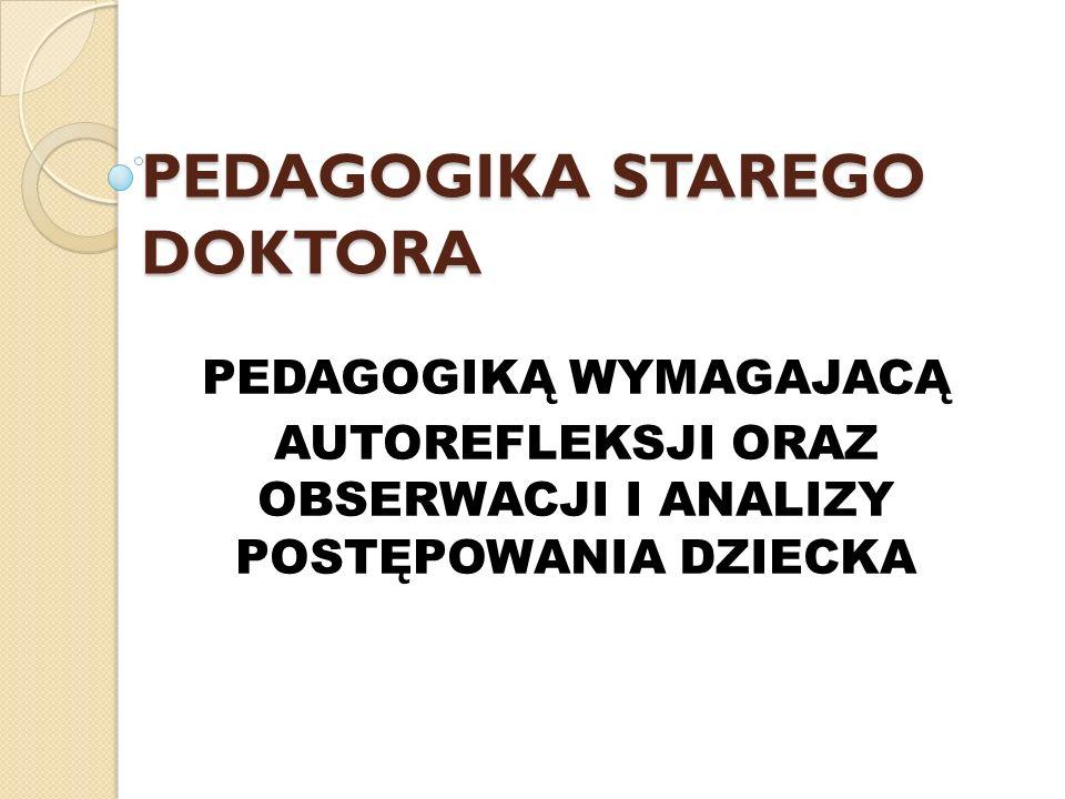 PEDAGOGIKA STAREGO DOKTORA