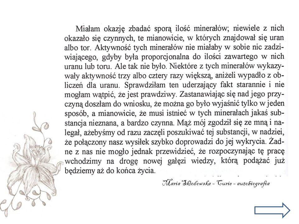 Maria Skłodowska – Curie – autobiografia