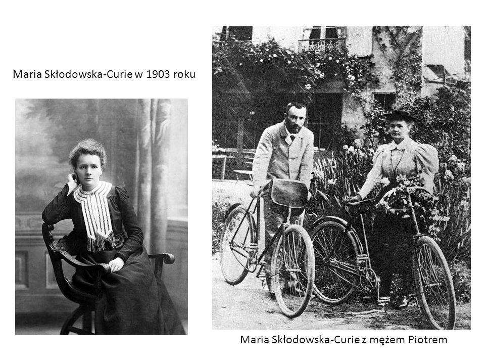 Maria Skłodowska-Curie w 1903 roku