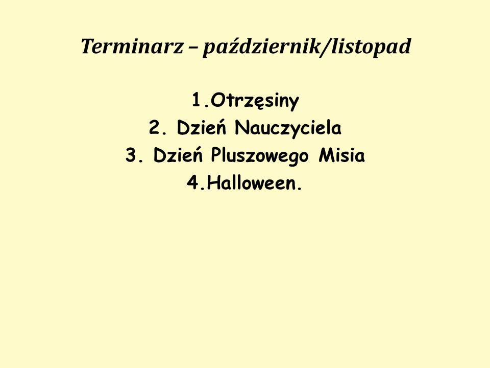 Terminarz – październik/listopad