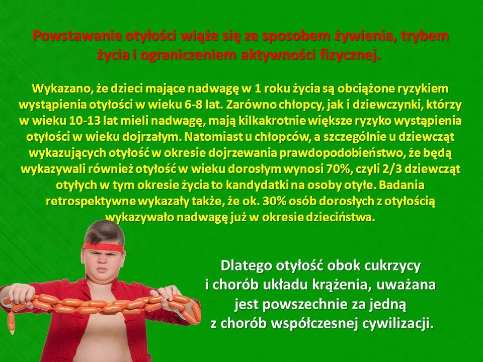 Powstawanie otyłości wiąże się ze sposobem żywienia, trybem życia i ograniczeniem aktywności fizycznej.