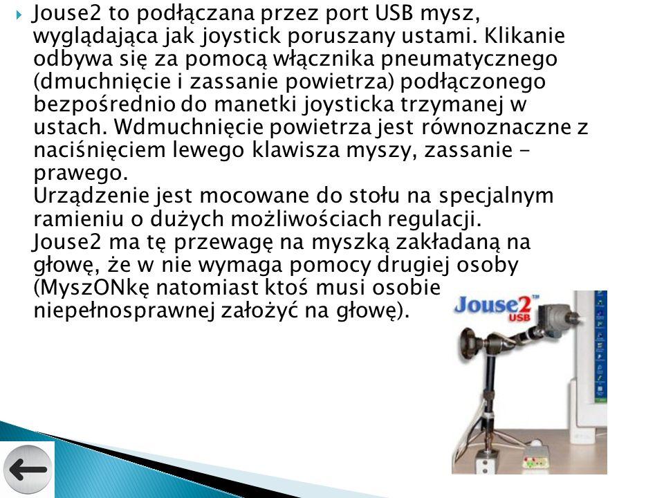 Jouse2 to podłączana przez port USB mysz, wyglądająca jak joystick poruszany ustami.