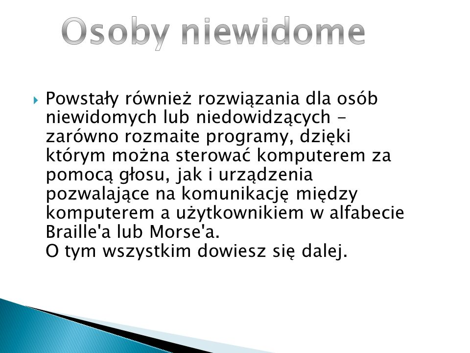Osoby niewidome