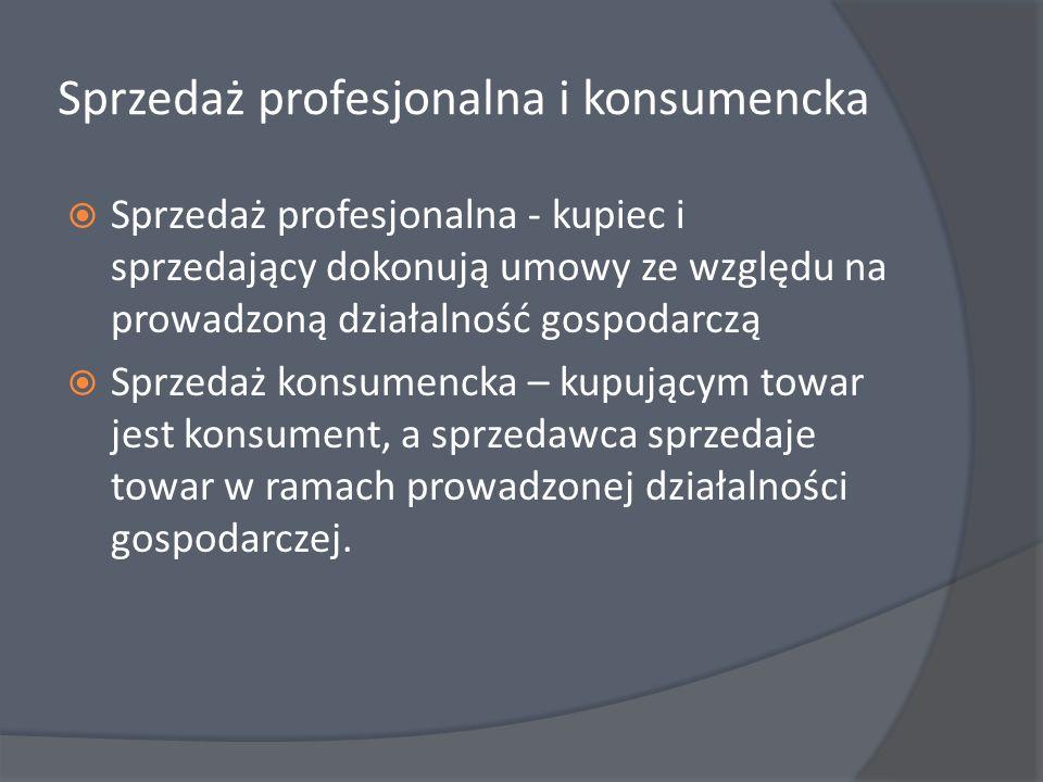 Sprzedaż profesjonalna i konsumencka