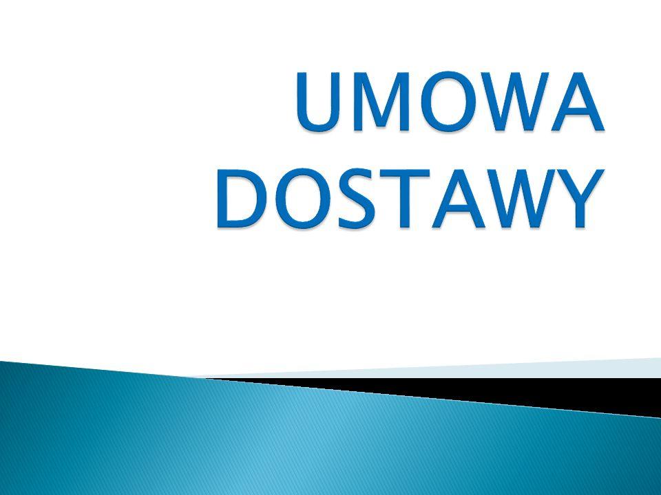 UMOWA DOSTAWY